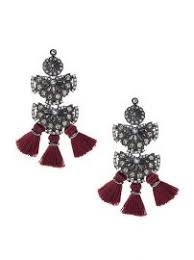 Earrings Banana Republic Wornontv Lily U0027s Burgundy Lace Dress And Tassel Earrings On The