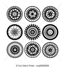 design clipart collection of polynesian tattoo design isolated on white clipart