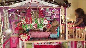 decorating american doll house for christmas youtube
