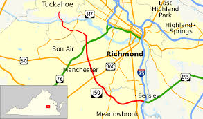 Map Of Richmond Virginia by Virginia State Route 150 Wikipedia