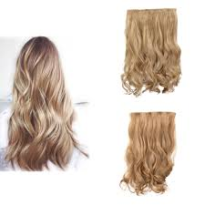 Synthetic Hair Extension by 24 U0027 U0027 Long Synthetic Hair Extension Wavy Full Head Clip In Hair