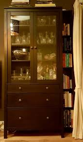 3 Door Display Cabinet Hemnes Cabinet With 2 Doors Black Brown 99x130 Cm Ikea Care