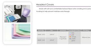 Paper Chair Covers Disposable Dental Headrest Cover Disposable Dental Chair Covers