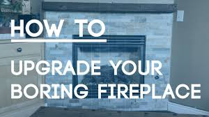 how to tile a fireplace wall upgrade your boring fireplace with
