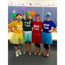 dr seuss theme book week costumes one fish two fish red fish