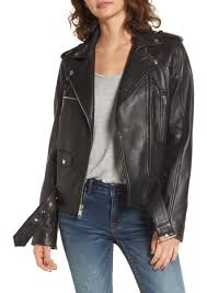 moto jacket sam edelman sam edelman contrast trim leather moto jacket