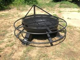 Firepit Menu Firepit Grill Inch Heavy Duty Pit Adjustable Grill Top