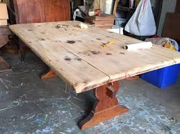 how to stain pine table how to stain a pine table top farmhouse table progress