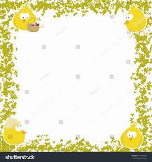 easter frame four chicken vector stock vector 129708866 shutterstock