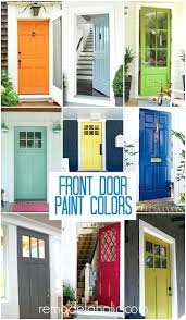 front door red paint colors brick house painted painting ideas