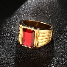 jewelry large rings images Modyle 2018 new big red stone rings for men jewelry cool gold jpg