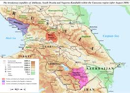 map of abkhazia de facto states in question maps