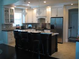 kitchen top notch black and white l shape kitchen decoration