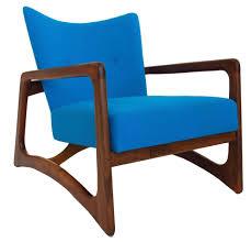 furniture attractive blue mid century modern chair for modern