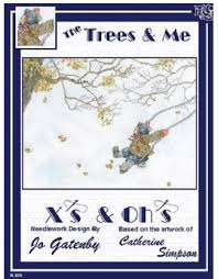 threadwork primitives trees coverlet cross stitch pattern
