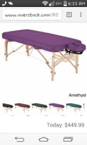 used portable massage table for sale sell or buy a used earthlite portable massage table