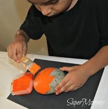 rock jack o lanterns easy kid u0027s halloween craft u0026 diy