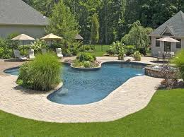 Cool Ideas For Backyard Cool Landscaping Ideas For Pools With Resort Style Pool