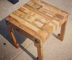 Pallet Furniture Side Table Pallet Wood Table Seat And Upcycled Pillow 6 Steps With Pictures