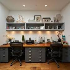 Built In Desk Ideas For Home Office Contrast Your White Built In Desk With Wooden Floors While