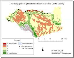 suitability map of red legged frog habitat u2013 sam u0027s solutions