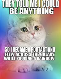 Cat Rainbow Meme - best of the they said i could be anything meme smosh funny