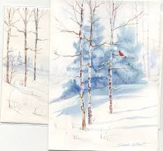 christmas cards in watercolor susie s watercolor christmas card ideas greeting cards
