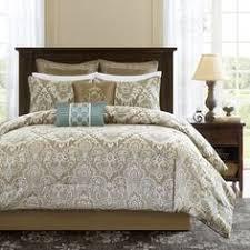 Premium Bedding Sets 12 Luxurious Paisley Pattern Comforter Set Cal King Size
