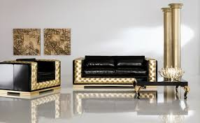 Gold Leather Sofa Furniture Accessories Luxury Living Room Furniture And Design