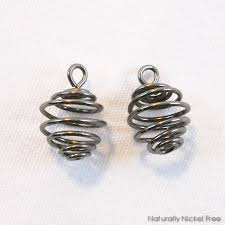 nickel earrings niobium honey jar spiral charms for earrings choose your color