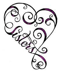 heart sister tattoo clipart best clipart best tattoo pics
