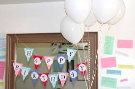 Decorations At Home by Balloon Decoration Ideas For Birthday Party At Home For Husband