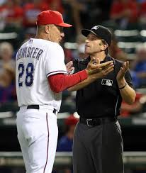 Banister Ball Banister Sets Record For Ejections By Rangers Rookie Manager