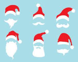 santa beard santa hat clipart santa beard pencil and in color santa hat