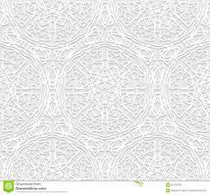 seamless white 3d pattern arabic motif east ornament stock vector