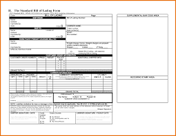 Bill Of Lading Template Excel 3 Bol Template Itinerary Template Sle