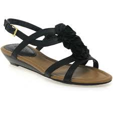 clarks santa rock black flower womens sandals women from charles