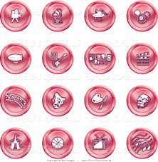 pink martini clip art circus clipart of a collection of red entertainment buttons of a