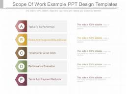ppt design templates scope of work exle ppt design templates powerpoint templates