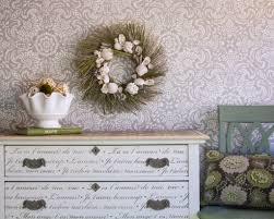 creative idea dining room design with brown moroccan stencil