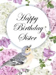 birthday flower cards for sister birthday u0026 greeting cards by