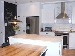 cuisine mur noir mur de cuisine en tableau à craie cuisine le