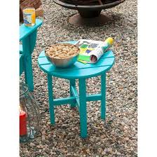 Aqua Side Table Polywood Round Patio Side Table Target