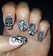365 days of nail art day 164 nail art black and white