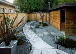 Japanese Garden Ideas Minimalist Japanese Wall Made From Wood In Zen Garden Feng Shui
