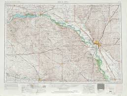 Ne Map Sioux City Topographic Maps Ne Ia Sd Usgs Topo Quad 42096a1