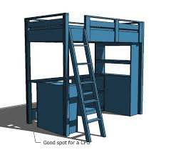 Build Your Own Loft Bed Free Plans by Ana White Loft Bed Small Bookcase And Desk Diy Projects
