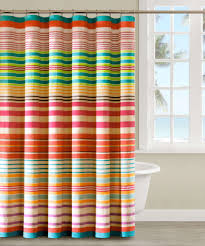 bathroom fantastic striped colorful fabric unique shower curtain