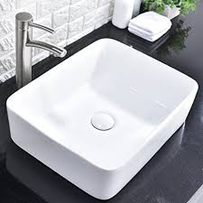 comllen above counter white porcelain ceramic bathroom vessel sink