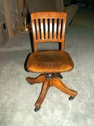 mission solid oak swivel desk chair antique walnut various interior on vintage office s